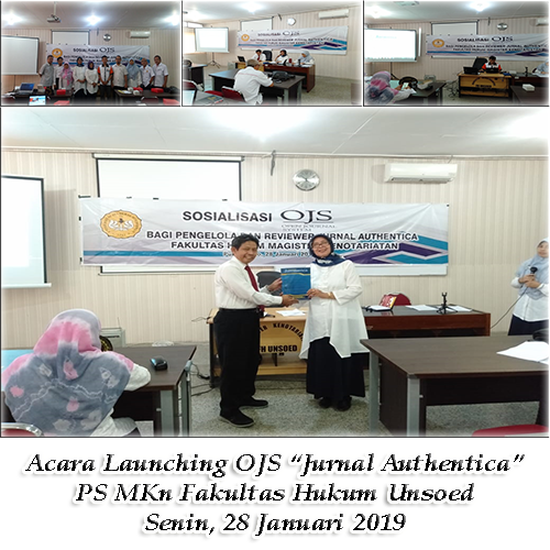 """Launching Open Journal System """"Jurnal Authentica"""""""